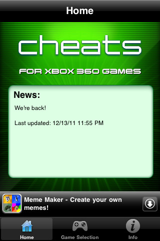 Cheats for XBox 360 Games