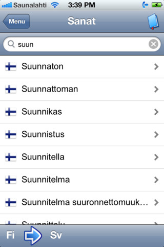 Suomi-ruotsi sanakirja 1.0 App for iPad, iPhone - Travel - app by Nervu Solutions - LisiSoft.com