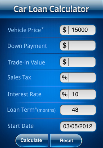 Auto Loan Calculator Online - Large Personal Loan Requirements