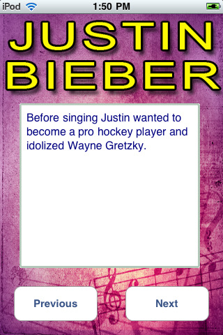 Justin Bieber Facts   Life on Justin Bieber Fun Facts 1 3 App For Ipad  Iphone   Music   App By Emja