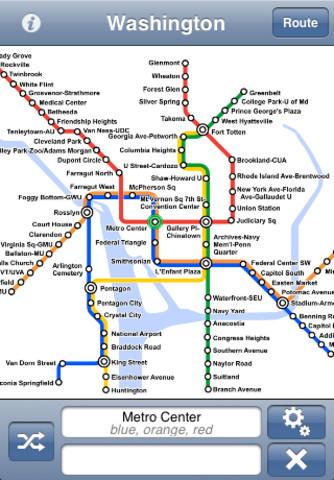 Washington dc metro map app for ipad iphone navigation