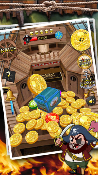 Kingdom Coins Pirate Booty Edition - Dozer of Coins Arcade Game monaco rare coins