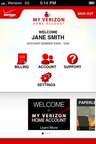 My Verizon Home Account smartphones verizon