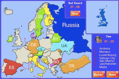 An Europe Puzzle Map southeastern europe map
