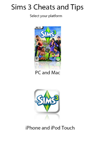 sims 3 iphone cheats sims 3 cheats and tips for pc and iphone app for 16139