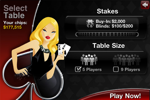 Blonde Zynga Poker Chick