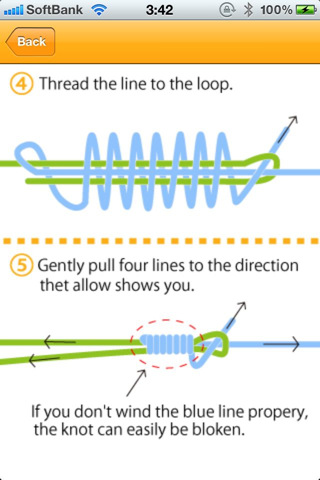 How to tie fishing knots app for ipad iphone reference for Fishing knots app