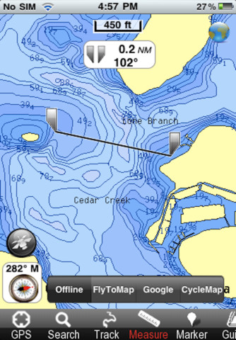 Old hickory lake fishing app for ipad iphone for Old hickory lake fishing