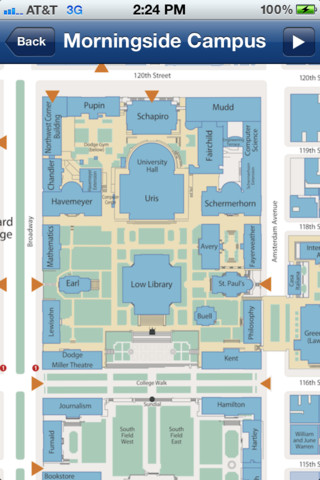 Columbia University Map 11 Images  Frompo
