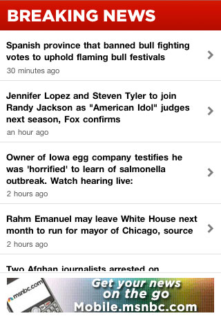 Breaking News for iPhone