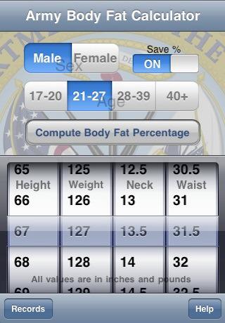 Dod Body Fat Calculator 24