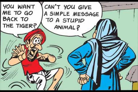 Funny Folk Tales Digest - 5 parts Digest- Amar Chitra Katha Comics packaging digest