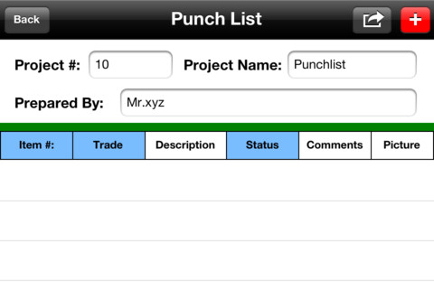 Construction punch list app for ipad iphone business for What is a punch out list
