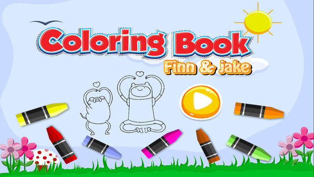 Coloring Book Kid Games For Finn and Jake Version