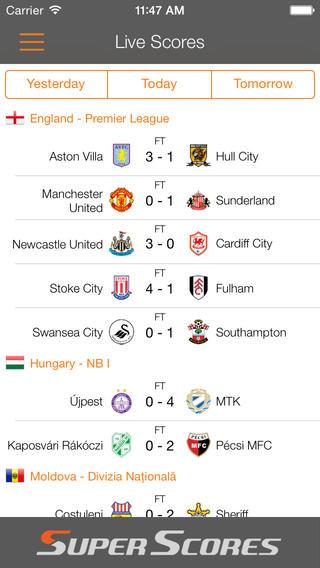 Super Scores - Live Football Scores featuring Brazil World Tournament Final 2014 good sat scores
