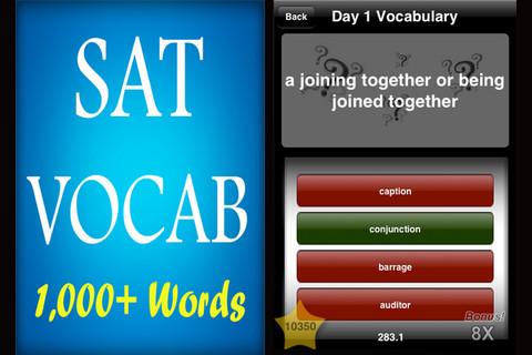 SAT Vocabulary - 1,000+ Words! good sat scores
