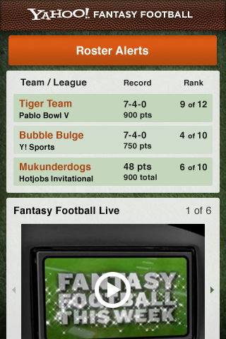 Yahoo! Fantasy Football `11 4.1