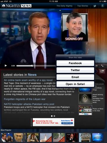 NBC Nightly News for iPad