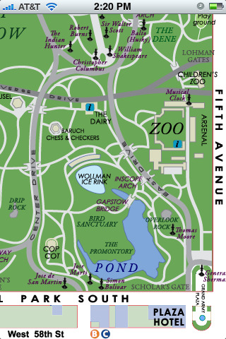 Central Park NYC Lite For IPod IPhone App For IPad IPhone