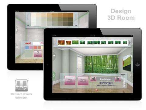 3d room creator udesignit app for ipad iphone 3d room design app