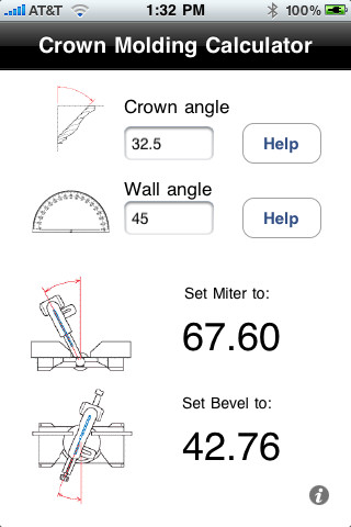 Crown molding angle chart for Crown molding size chart