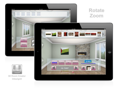 3d room creator udesignit app for ipad iphone