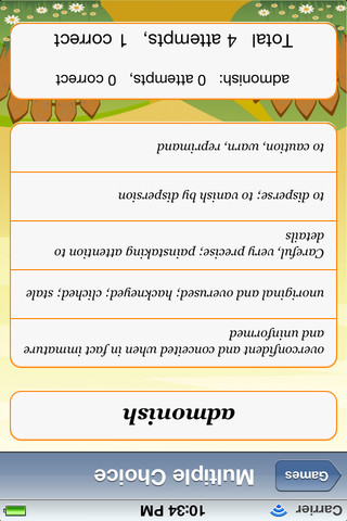 Ninth Grade English Flash Card Vocabulary 1.02 App for iPad, iPhone