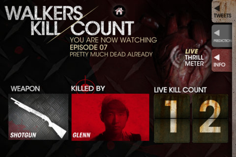 The Walking Dead - Walkers Kill Count