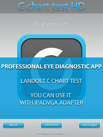 Landolt C Chart HD - Medical eye Diagnostic chart and test workflow chart