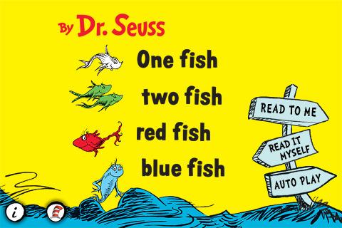 One Fish, Two Fish, Red Fish, Blue Fish fish aquaria