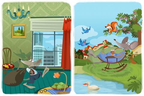 Campo y ciudad para niños - Imagui