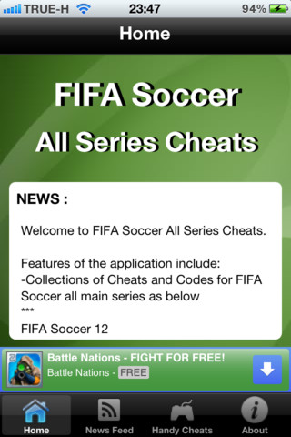 Cheats for FIFA Soccer All Series and News fifa games free