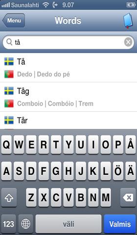Swedish - Portuguese - Swedish dictionary skatesports