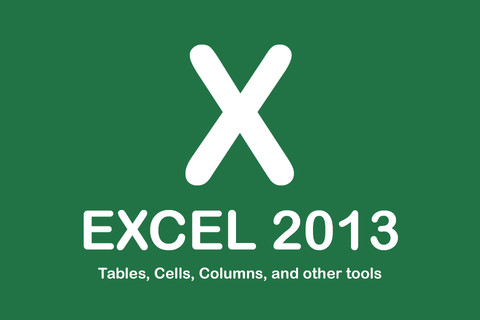 Excel 2013 - Tables, Cells, Columns, and other tools