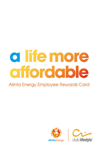 Alinta Energy Employee Rewards Card employee time card