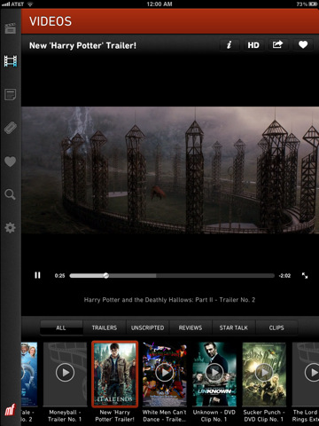 Moviefone Movies for iPad - Movie Theaters, Trailers ...