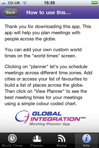 Download Time Zone Meeting Planner by Global Integration iPhone iPad 8NvHkFGn