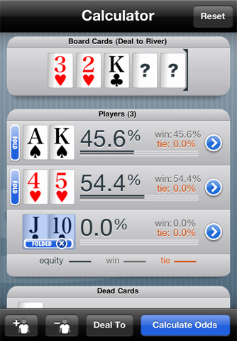 poker odds online calculator