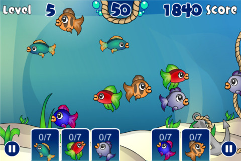 Fish pond the tap fish feeding game app for ipad iphone for Big fish in a small pond game