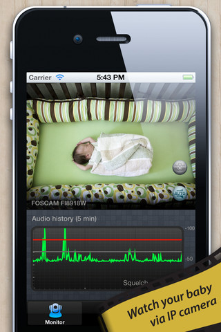 baby monitor for ip camera app for ipad iphone. Black Bedroom Furniture Sets. Home Design Ideas