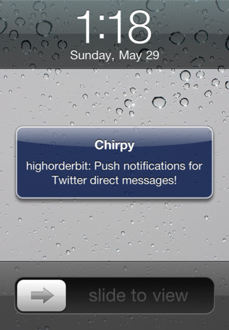 Chirpy for Twitter direct messages - free, fast text messaging (SMS) powered by Twitter