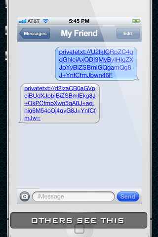 How to send a private text message online 6.80