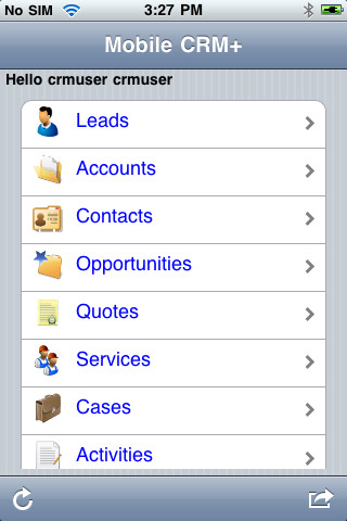 Mobile CRM+ for MS Dynamics CRM Online crm
