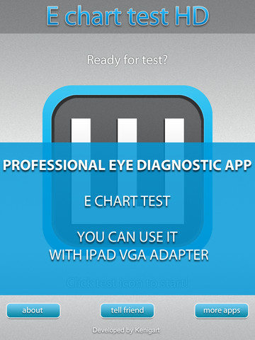 E Chart test HD - Medical eye Diagnostic chart and test workflow chart