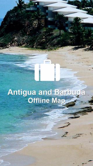 Map Antigua and Barbuda (Golden Forge) antigua barbuda map