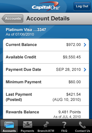 Capital One Mobile Banking