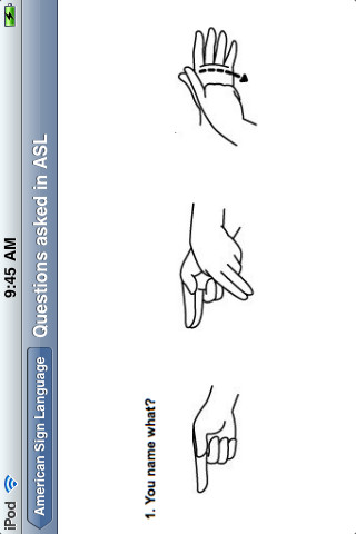 ASL - 'American Sign Language'