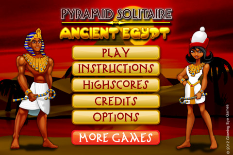 Pyramid Solitaire Ancient Egypt Games Pyramid Solitaire