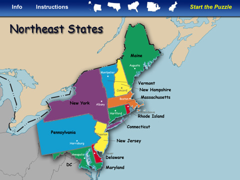 eastern us map with capitals eastern us map capitals united states