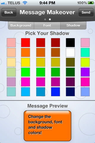 how to change color of text bubble on iphone
